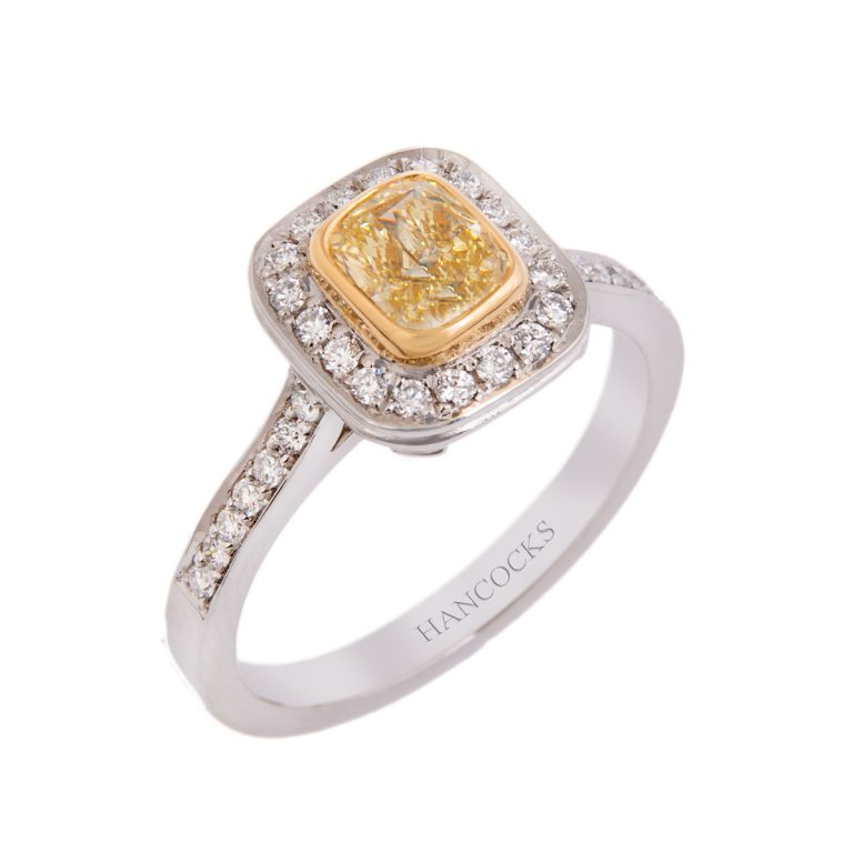 platinum-yellow-diamond-ring