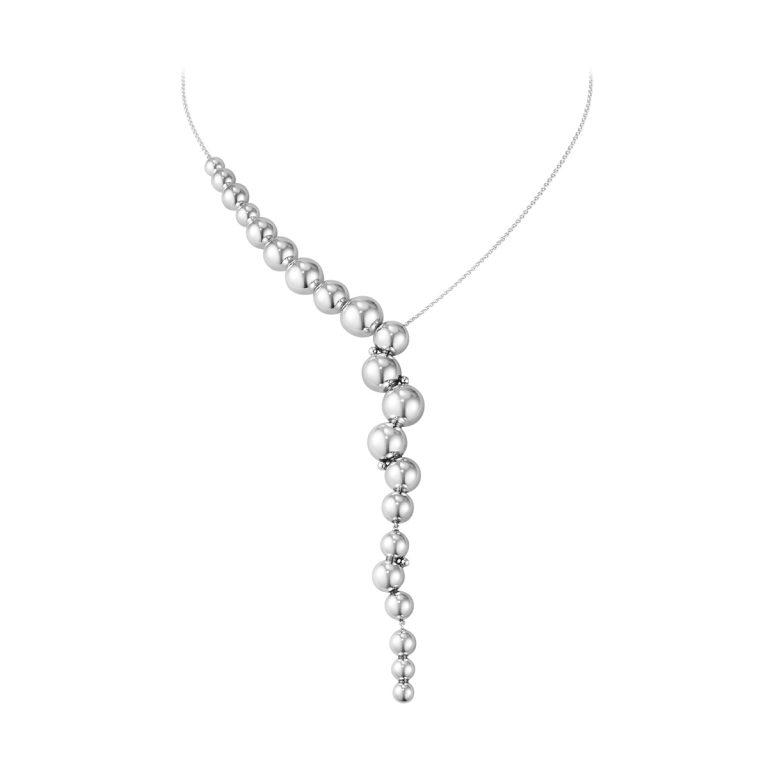 Georg Jensen Moonlight Grapes silver necklace
