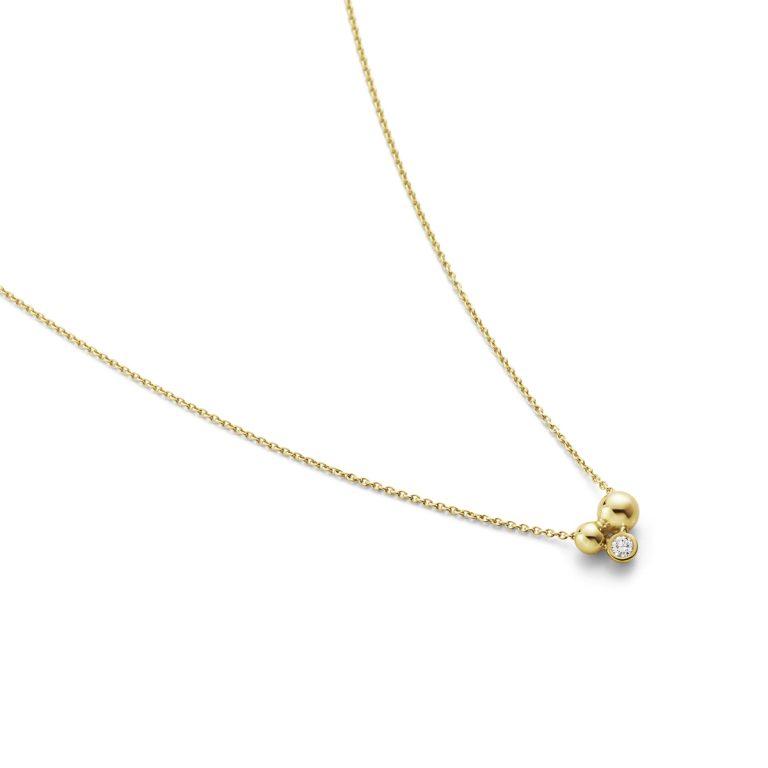 18ct Gold Moonlight Grapes Pendant with Diamond