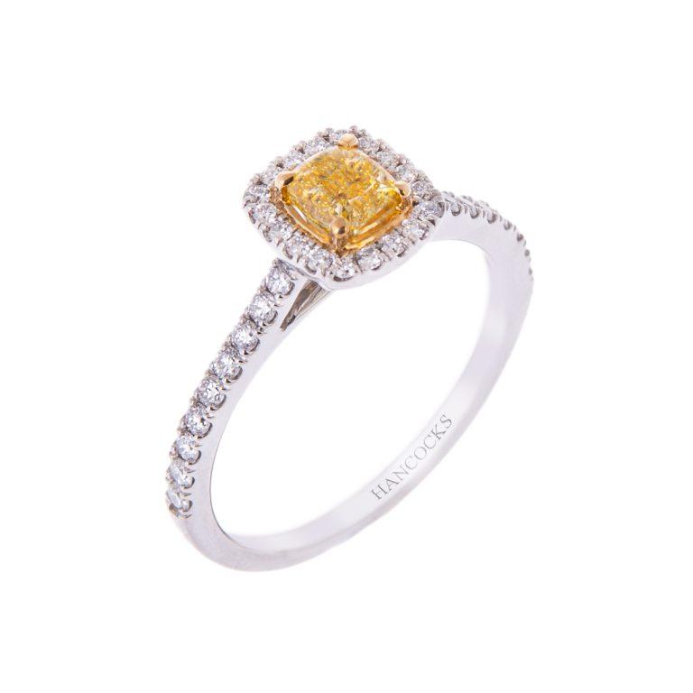 yellow-diamond-cluster-ring