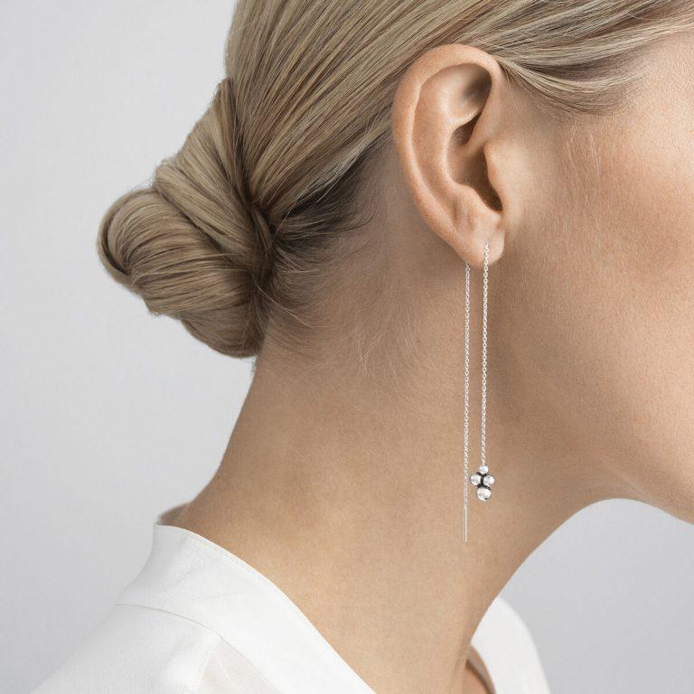 Moonlight Grapes Threader Earring, Single Piece
