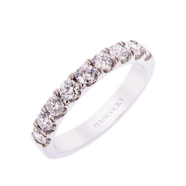Platinum Ladies Diamond Set Wedding Ring