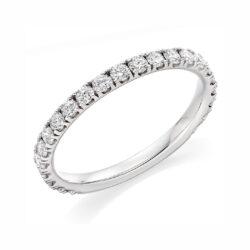 New Platinum Diamond Set Wedding Ring