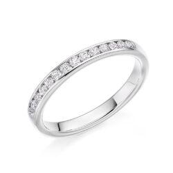Platinum Ladies Diamond Wedding Band