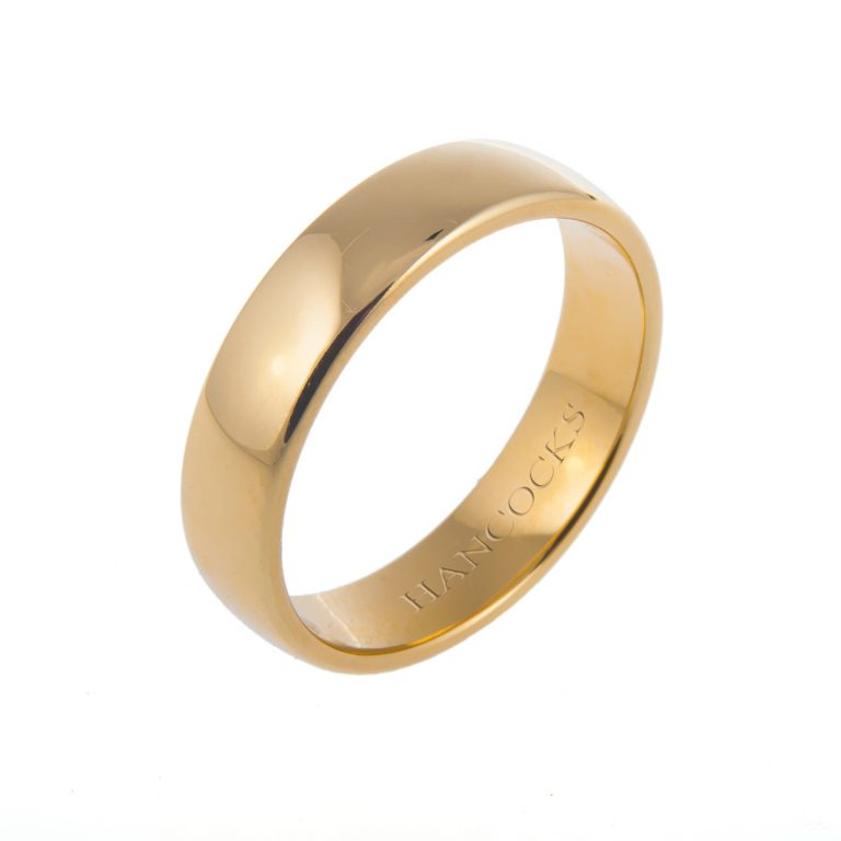 Gents 18ct Yellow Gold Wedding Band