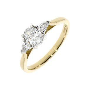 Oval Diamond 3 Stone Ring 12043 1 300x300