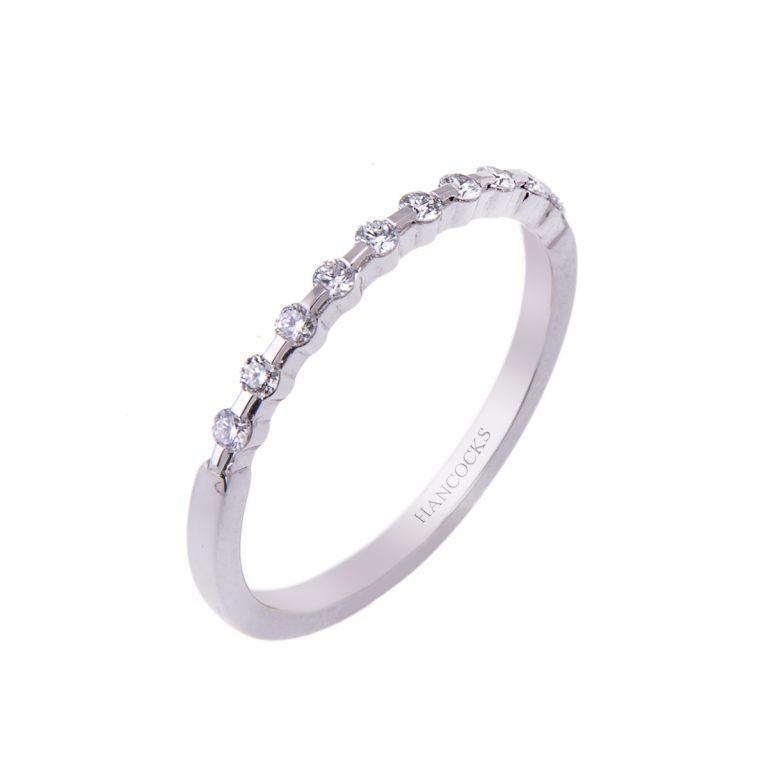 New Fine Diamond Set Wedding Ring