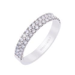 Platinum Double Row Diamond Wedding Ring