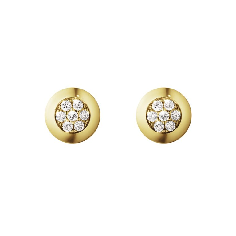 18ct Yellow Gold Aurora Diamond Studs