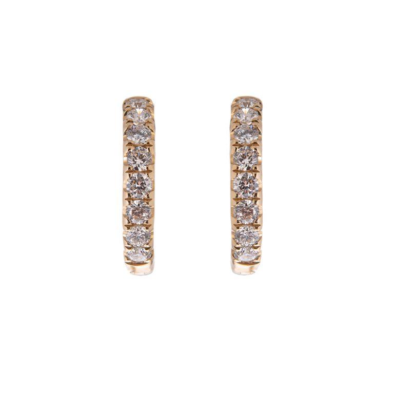 diamond-hoop-earring