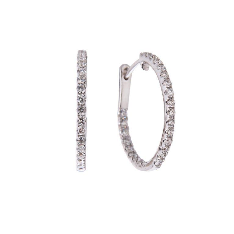 brilliant-cut-diamond-hoop-earrings