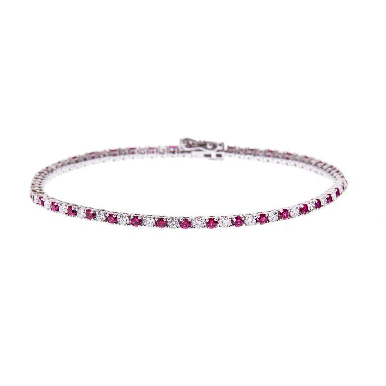 ruby-and-diamond-white-gold-bracelet
