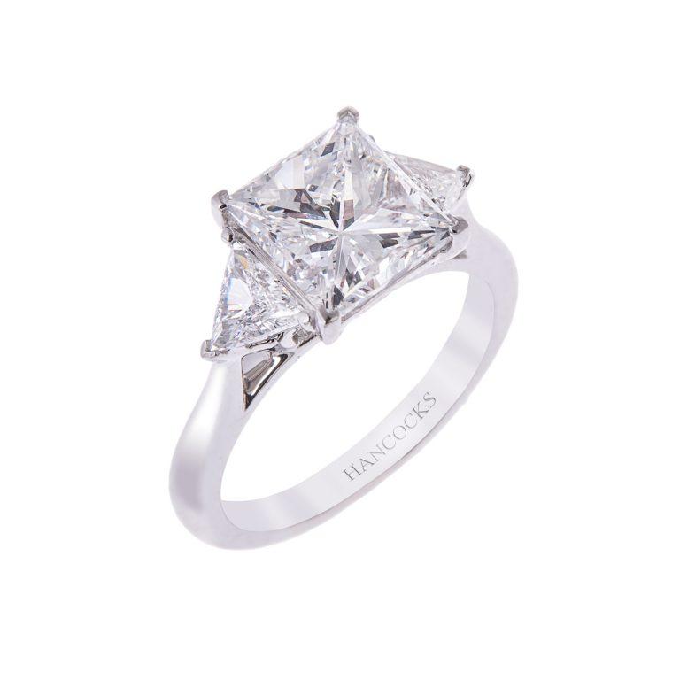 three-carat-princess-cut-diamond-ring