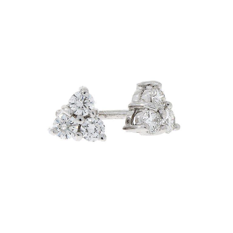 White Gold Multi-Stone Diamond Studs