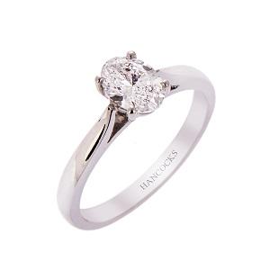 H140920 21 D Colour Oval Cut Diamond Ring In Platinum 2