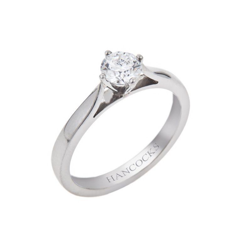 Platinum Brilliant Cut Diamond Engagement Ring