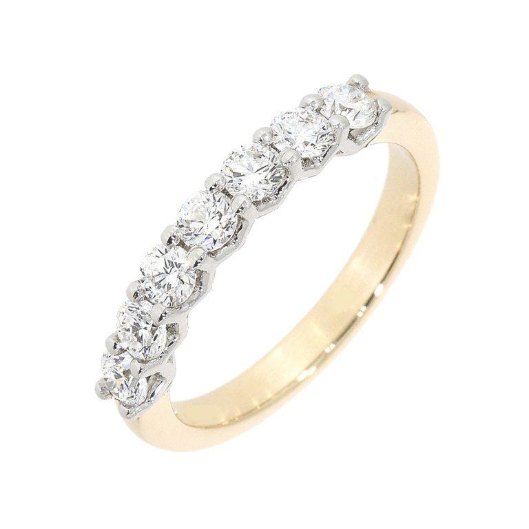 Seven Stone Diamond Set Eternity Ring