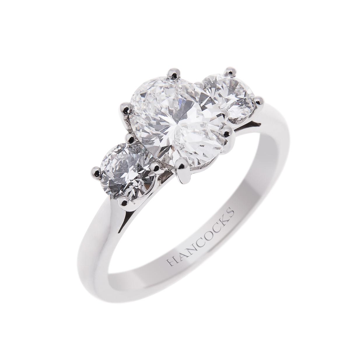 Three Stone Style Diamond Rings