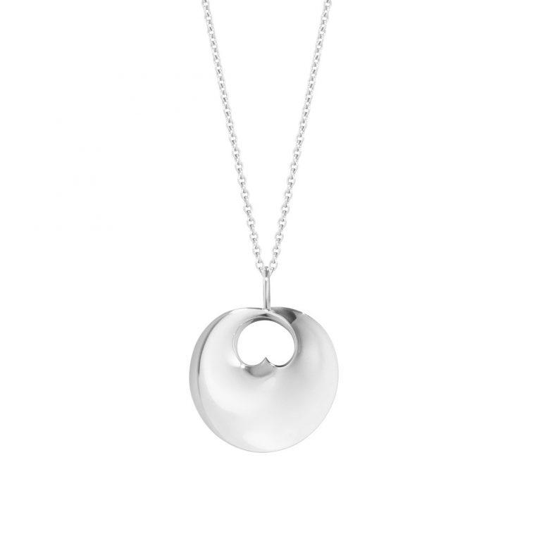 georg-jensen-silver-hidden heart pendant