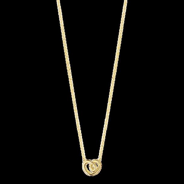 georg jensen 18 carat yellow gold heart pendant