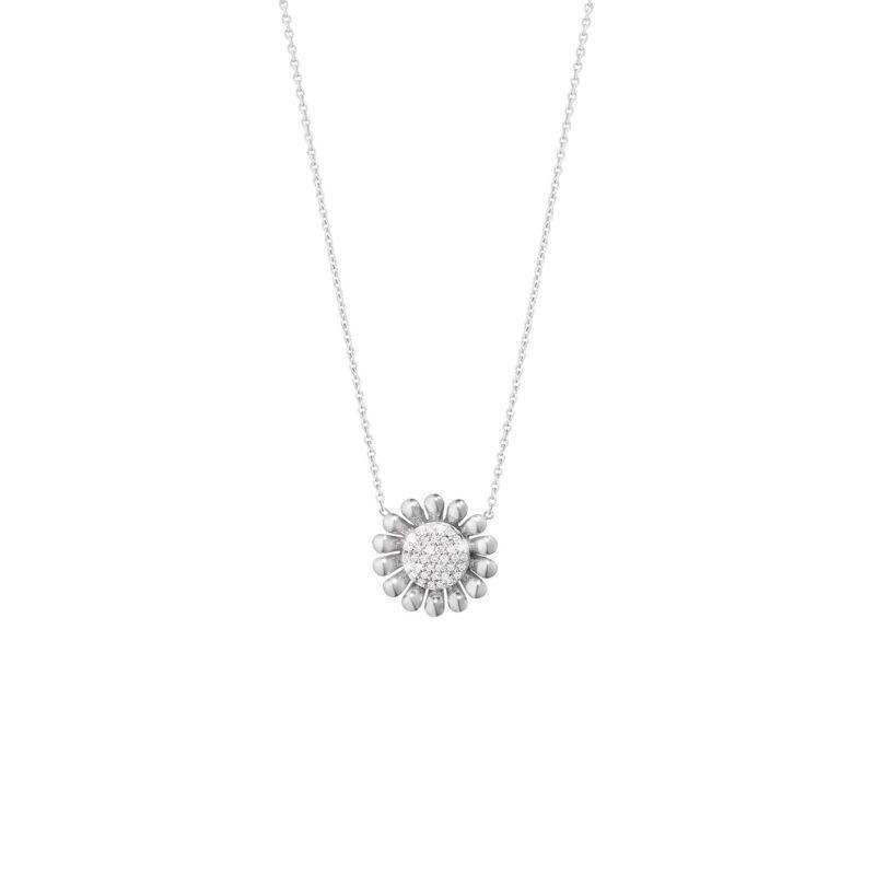silver-georg-jensen-diamond-sunflower-pendant