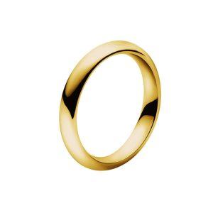 georg jensen 18 carat yellow gold magic plain ring