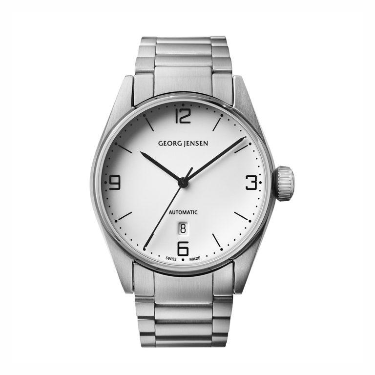 3575593 delta 42mm gents georg jensen watch in steel