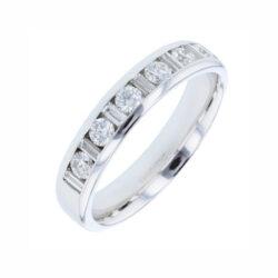 83Z57 platinum diamond wedding ring