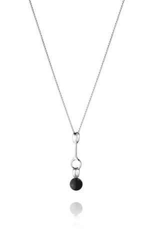 Black agate Sphere pendant