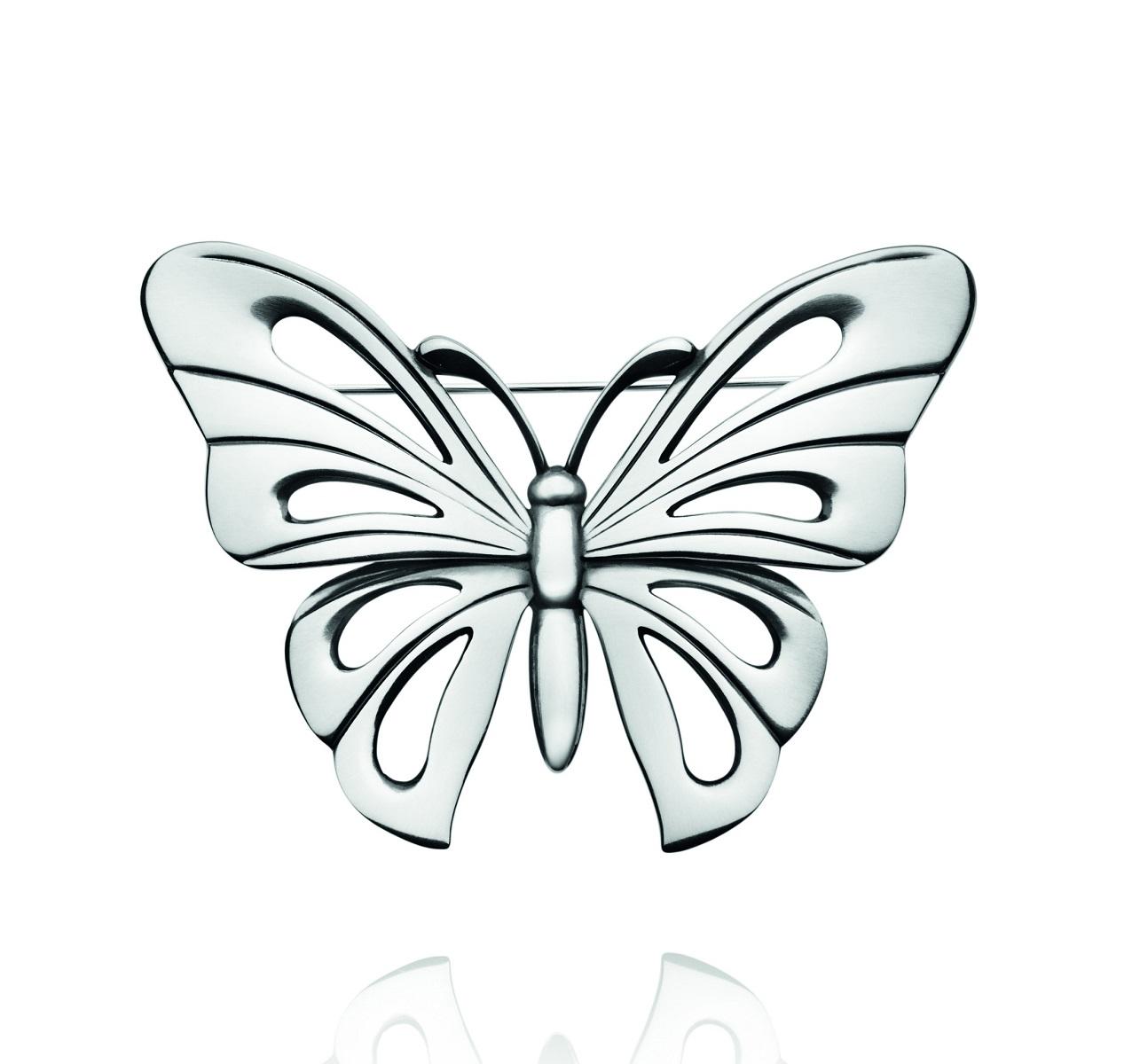 georg jensen silver butterfly brooch