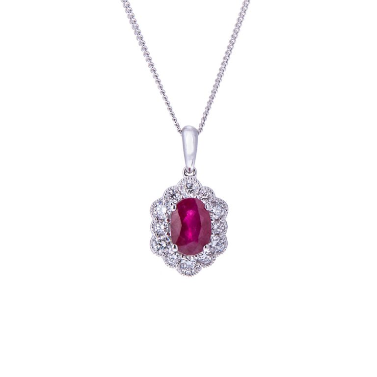 H 171019 16 ruby and diamond pendant in 18ct gold hancocks