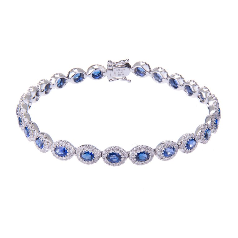 H 171019 27 saphire and diamond bracelet hancocks jewellers manchester