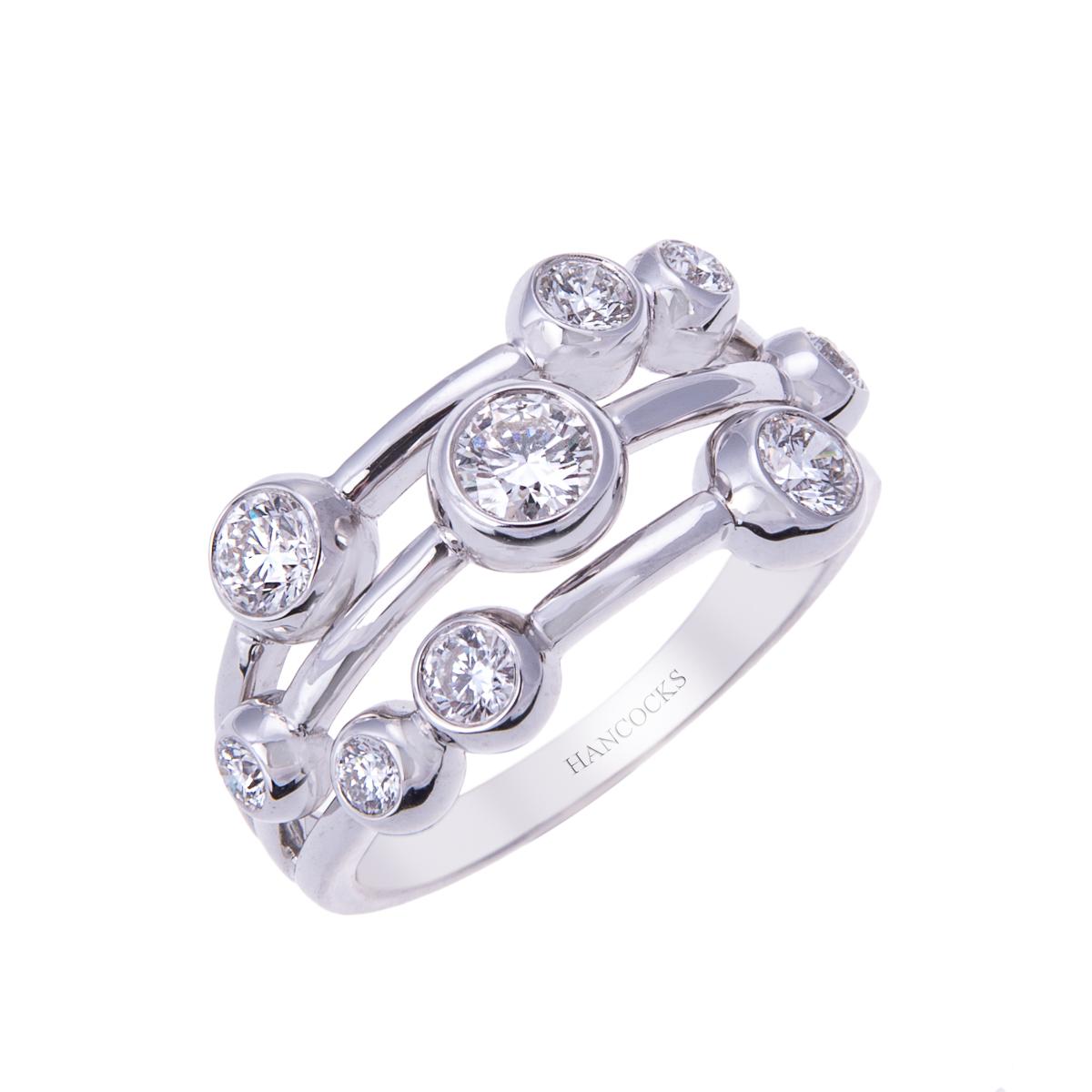 H 171019 45 white gold diamond set dress ring