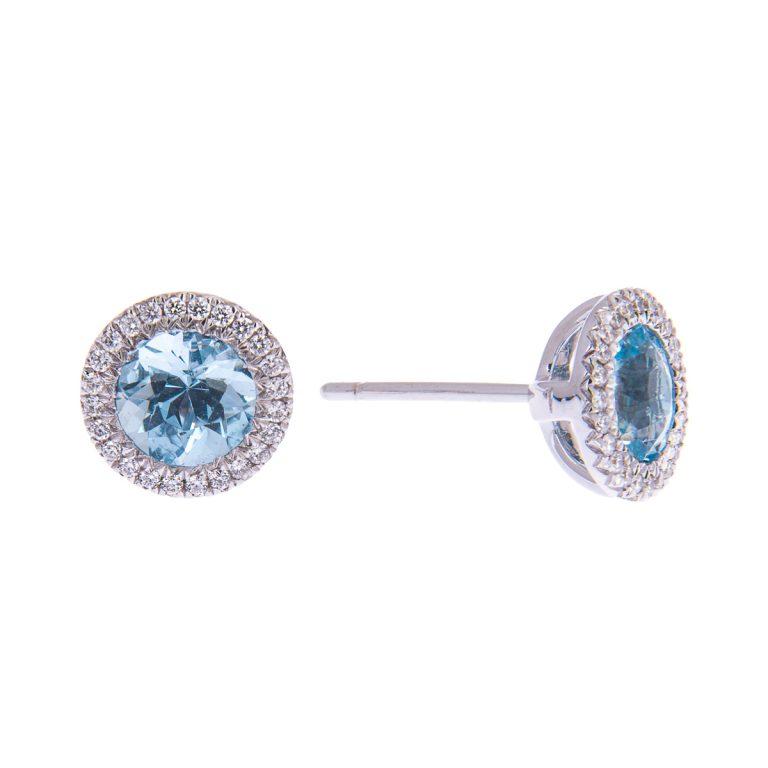 aqua and dia earrings