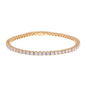 princess cut diamond bracelet in gold
