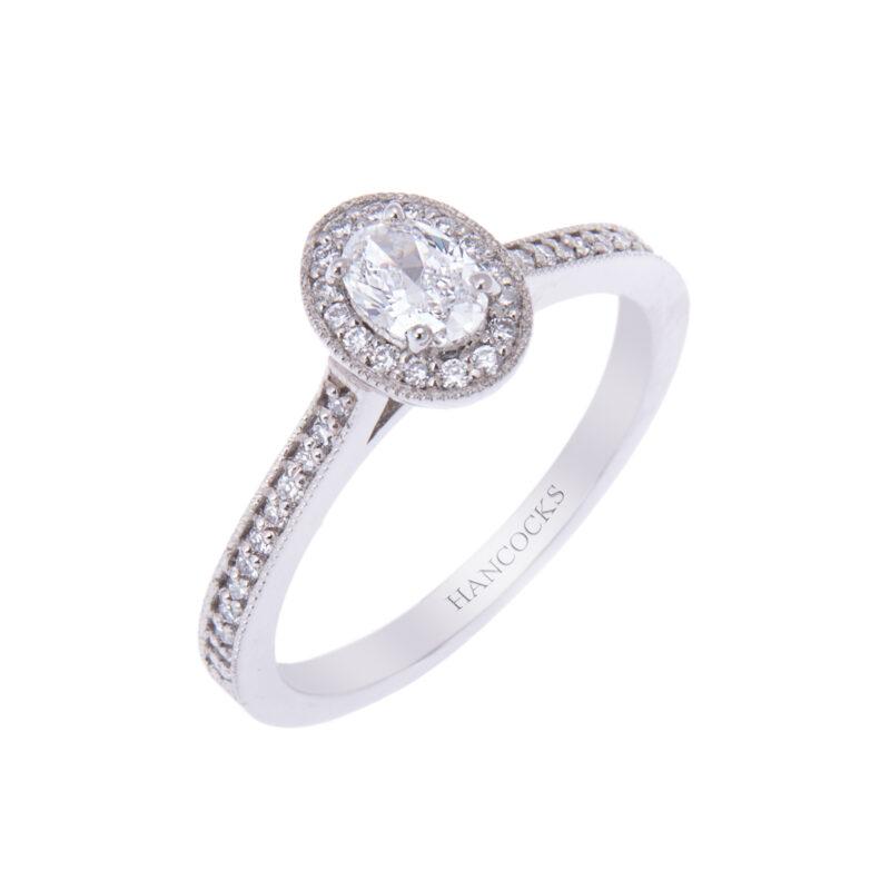 diamond engagement ring hancocks manchester