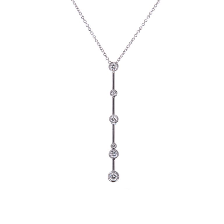 H1200 8 white gold diamond drop pendant