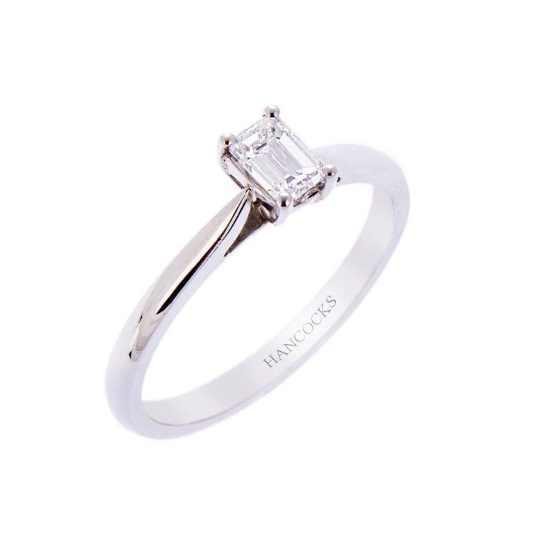 H140920 12 emerald cut diamond ring hancocks jewellers