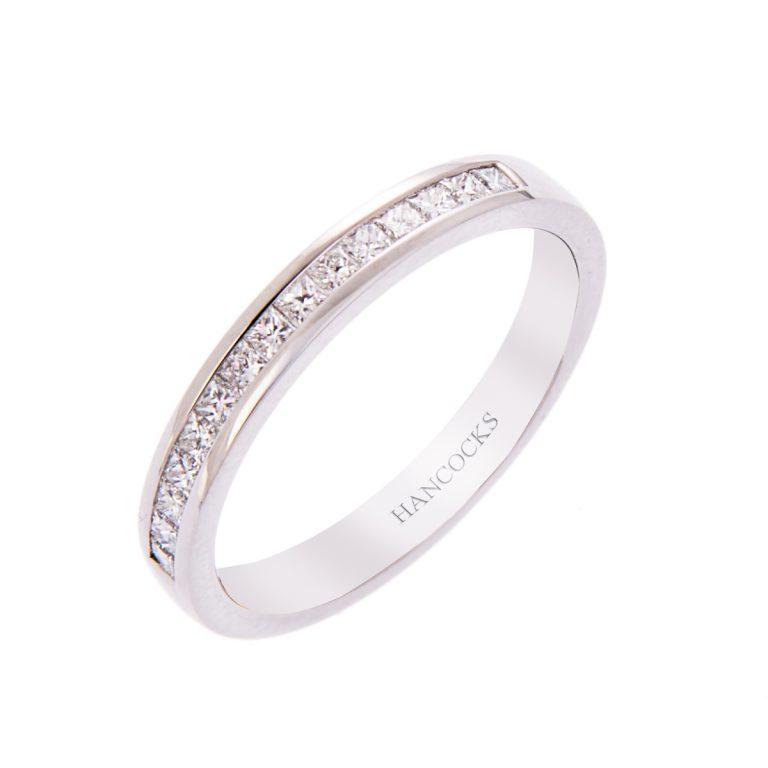 H140920 28 princess cut diamond wedding ring