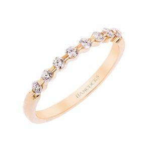 H140920 30 yellow gold diamond set wedding ring