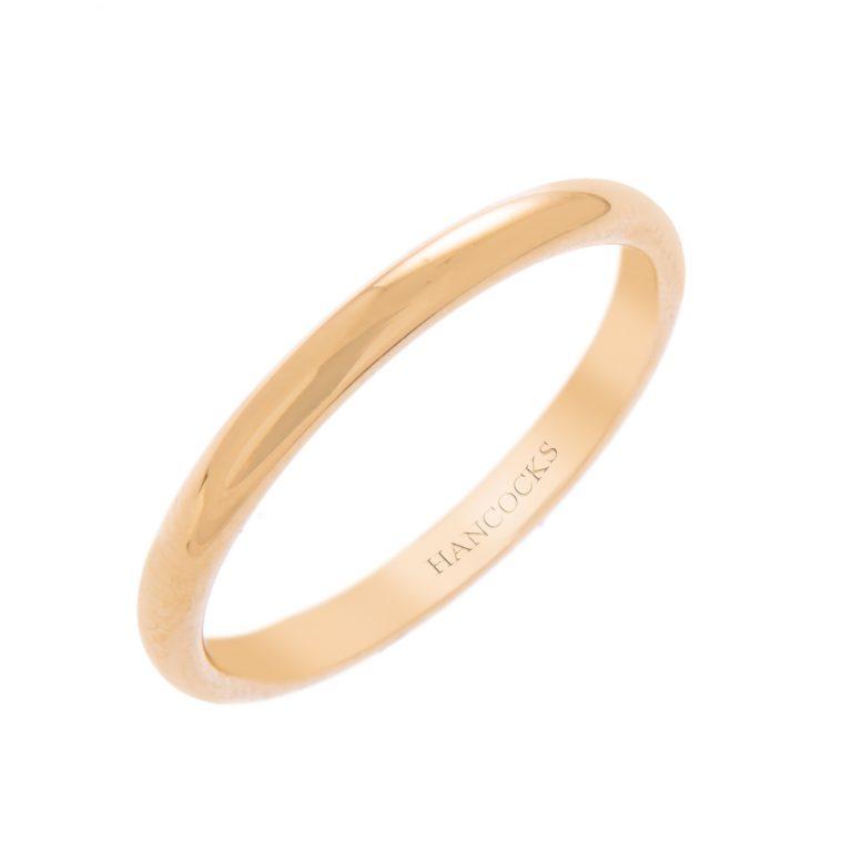 H140920 41 18ct yellow gold ladies wedding ring