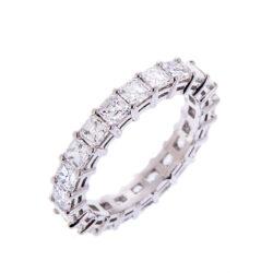 H140920 42 asscher cut diamond full eternity ring