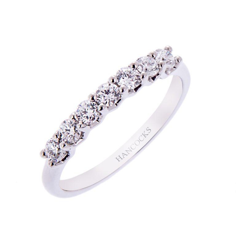 H140920 43 7 stone diamond eternity ring