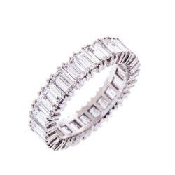 H140920 46 emerald cut full eternity ring