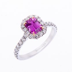 H140920 58 pink sapphire cluster ring