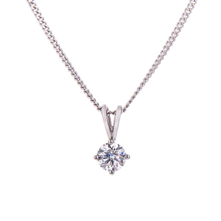 H140920 63 diamond brilliant cut pendant