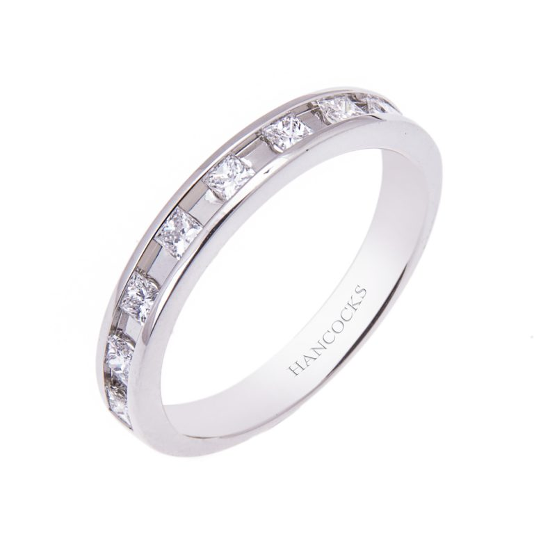 HE 45 platinum diamond set wedding band