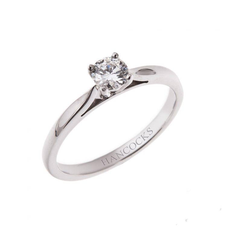 HH 15_1 platinum brilliant cut diamond engagement ring