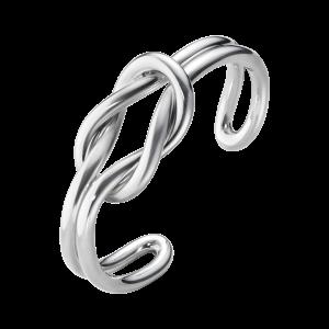 georg jensen silver double row love knot