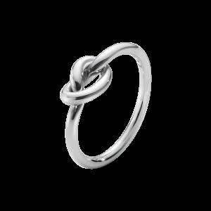 georg jensen silver love knot ring